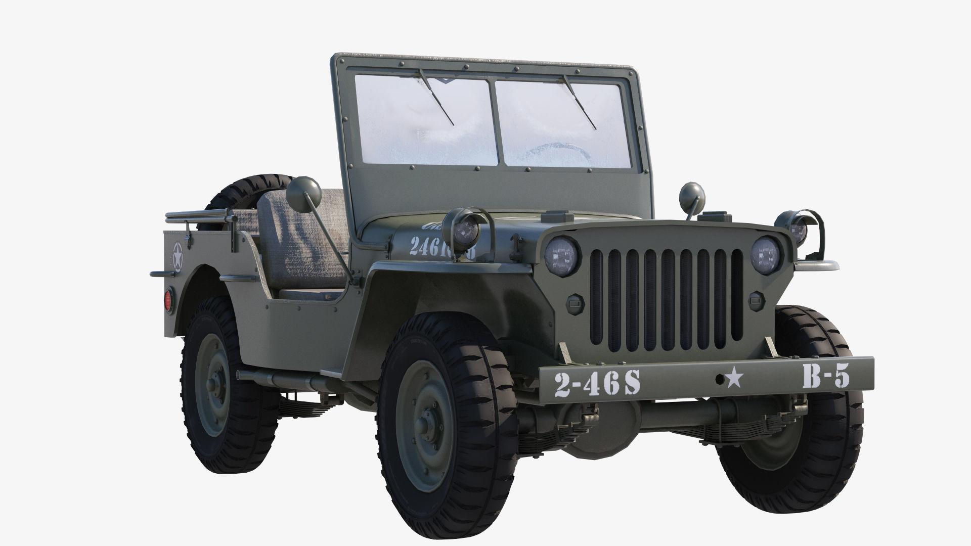 hight resolution of  military jeep car willys 3d model max obj mtl fbx tga