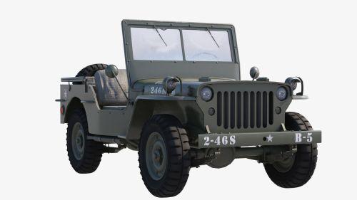 small resolution of  military jeep car willys 3d model max obj mtl fbx tga