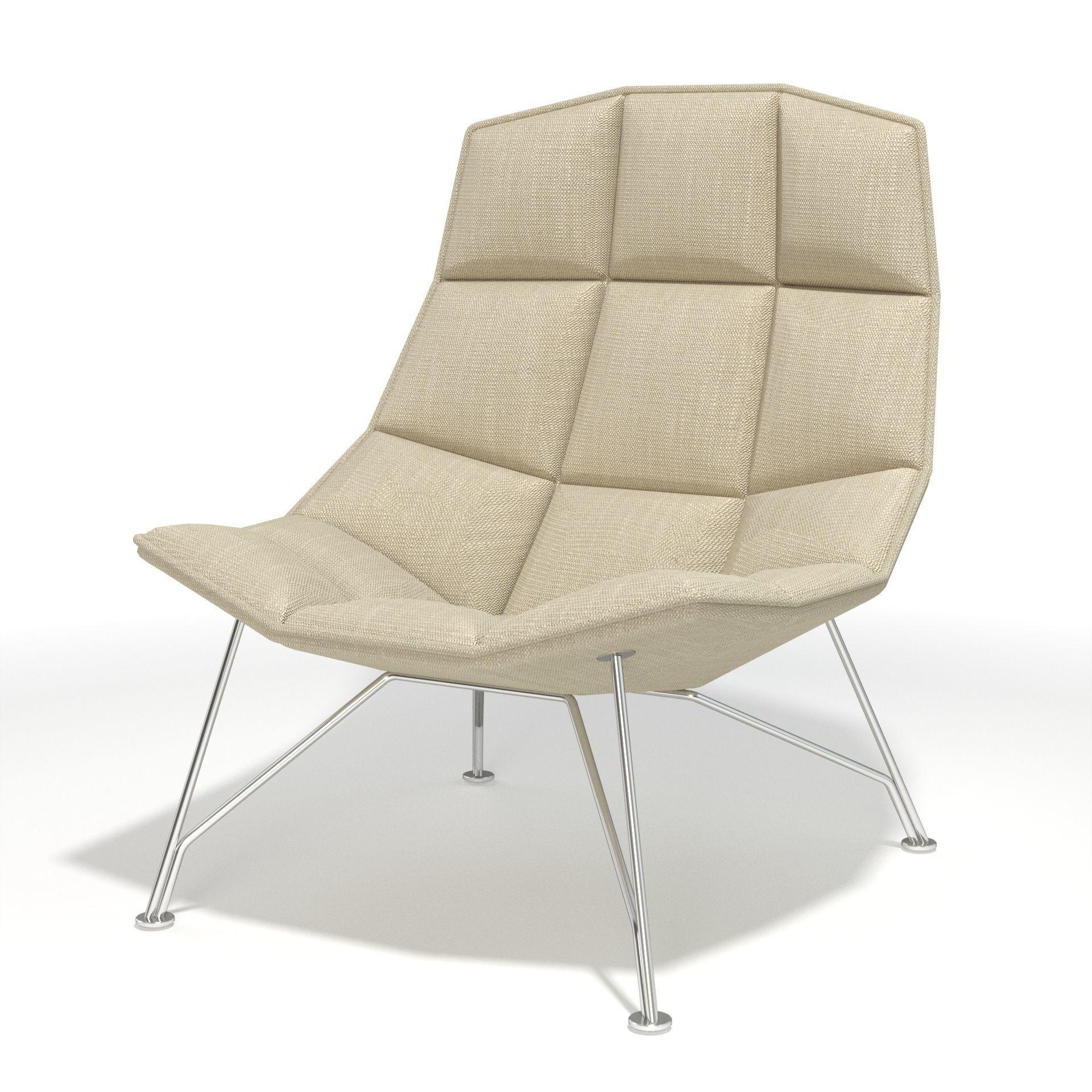 jehs laub lounge chair deschutes red 3d model and cgtrader max obj mtl fbx 5