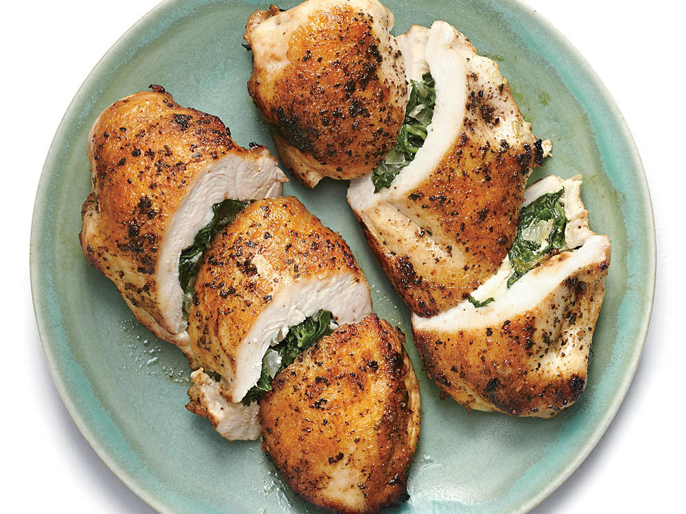 Spinach And Feta Stuffed Chicken Breasts Recipe Cooking