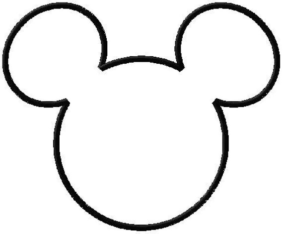 Items similar to MICKEY MOUSE HEAD OUTLINE APPLIQUE