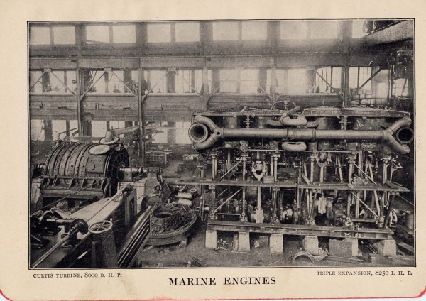 1912 Titanic' Triple Expansion Marine Engine Rotogravure