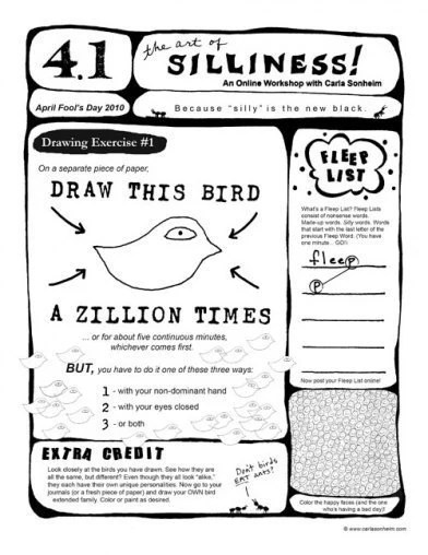 Online Class 30 SILLY Drawing Worksheets PDF