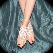 Tatted Barefoot Sandals Bride' Feet