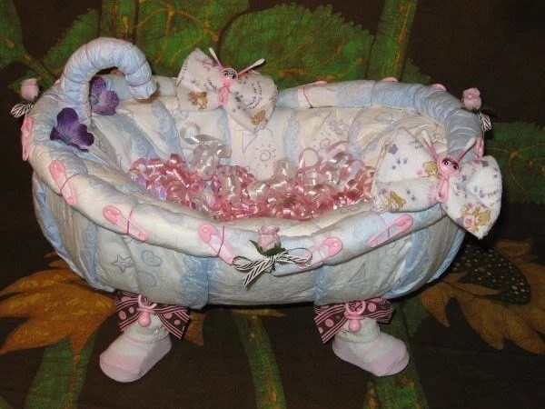 Learn 2 Make A BATHTUB From DIAPERS Tutorial Fill It Up With