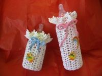 Crocheted Baby Bottle Covers Small or Large Choose your