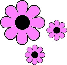 Hippie Flowers Clip Art