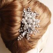 rhinestone hair comb bridal
