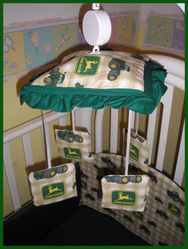 Musical Crib Mobile In John Deere Tractor Fabrics