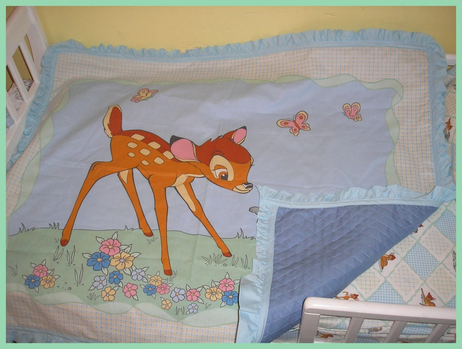 New Toddler Crib bedding set made in BAMBI and THUMPER with