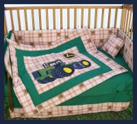 SALE New 7 piece JOHN DEERE Crib Bedding Set with large