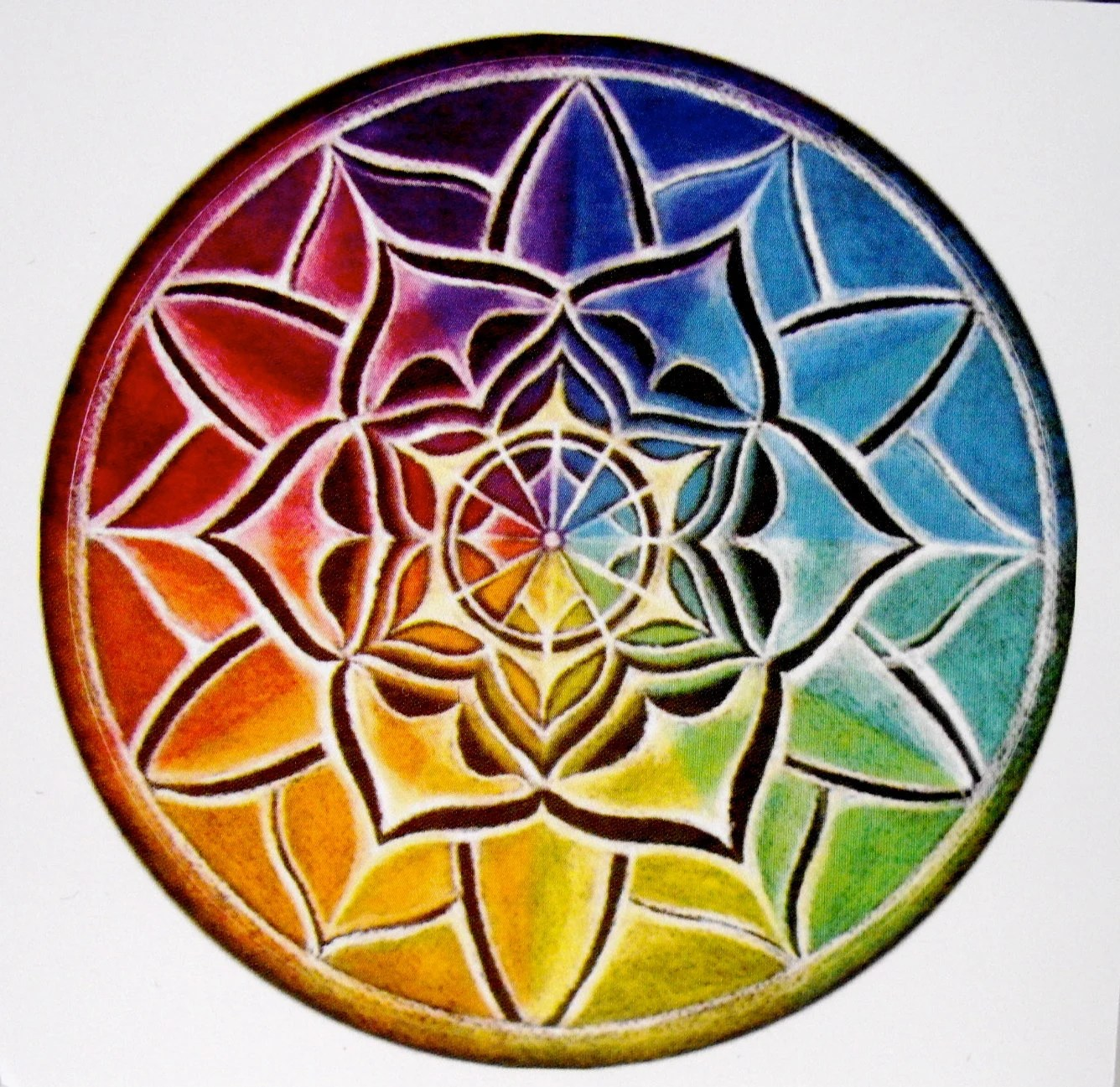 Mandala Sticker One Original Illuminated Mandala Drawing