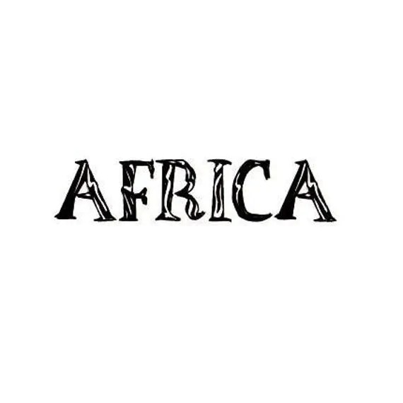 AFRICA word Unmounted rubber stamp tribal travel journal