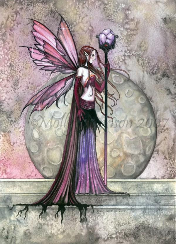 Fairy Art Gothic Fantasy Print Molly Harrison