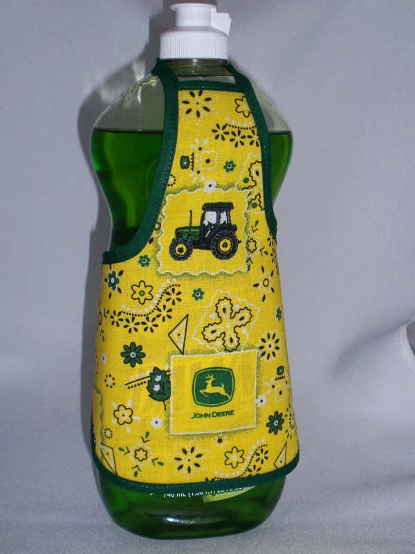 John Deere Kitchen Decor Dish Soap Bottle Apron