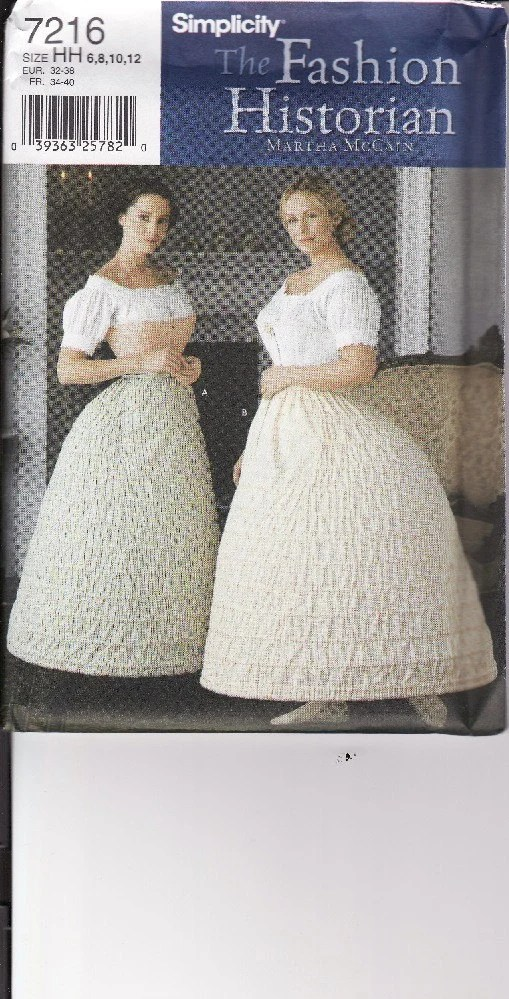 Misses Crinoline Hoop Skirt Costume Sewing Pattern by