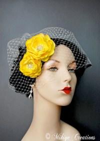 yellow hair accessories wedding wedding hair flowers ...
