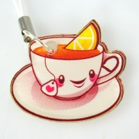 CUTE Tea Cup Phone Charm