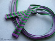purple and green braided ribbon