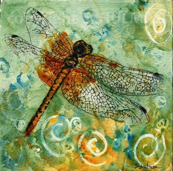 Green Dragonfly Decor Affordable Fine Art Print Schulmanarts
