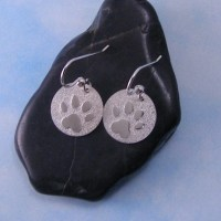 Paw Print Dangle Earrings