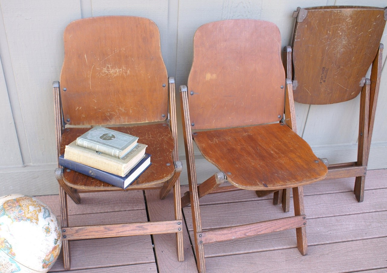 Wooden School Chairs Reserve 1934 Wood Folding School Chairs Vintage Seating