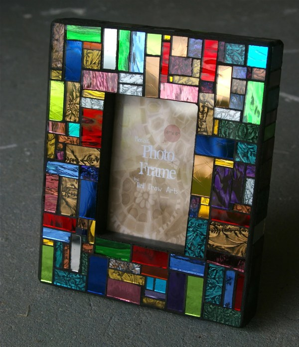 Mosaic Frame Red Crow Arts