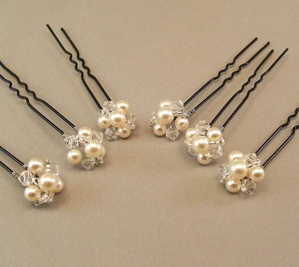 Wedding Hair Accessories Pearl And Crystal Hairpins Jeweled