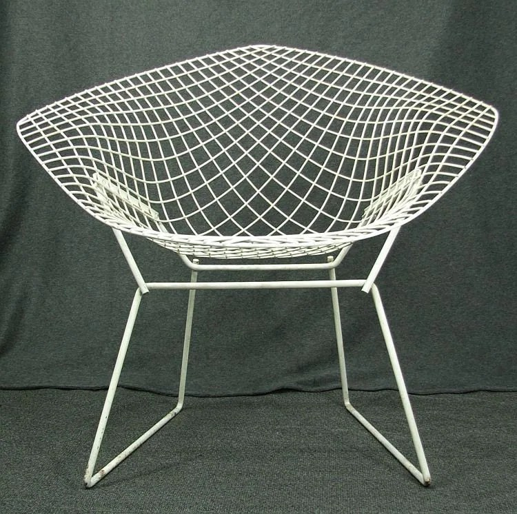 bertoia wire chair original comfy bean bag chairs harry diamond vintage mid century eames era