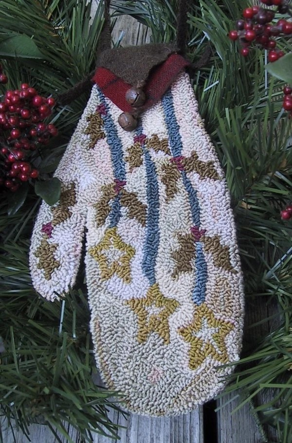 Primitive Punch Needle Pattern CHRISTMAS by