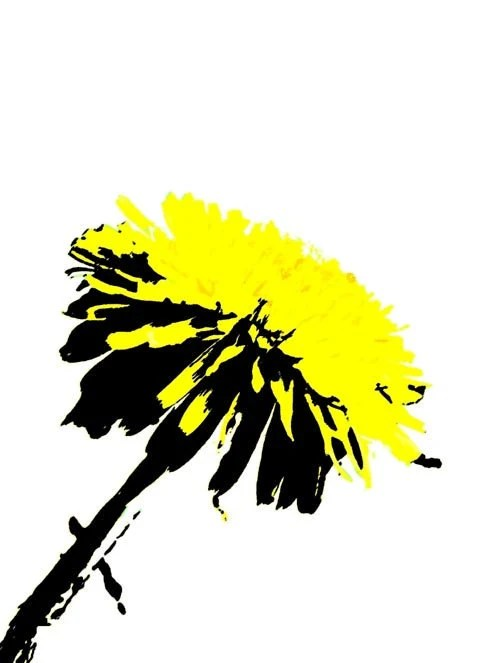 You Are My Sunshine Pop Art Print in double white matt wall decor art in yellow and black - itselemental