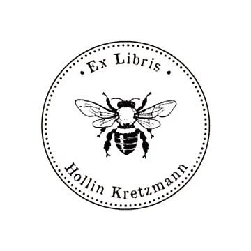 custom bumble bee ex libris rubber stamp