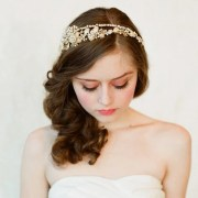 bridal crystal pearl and bead headband