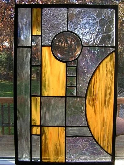 Abstract Stained Glass Window Panel By Colorshoppestudio