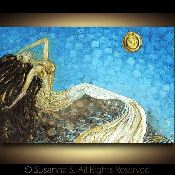 Abstract Mermaid Fine Art Print Modern Fantasy Modernhouseart
