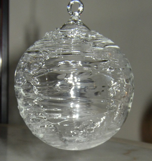 Large Clear Glass Ornaments