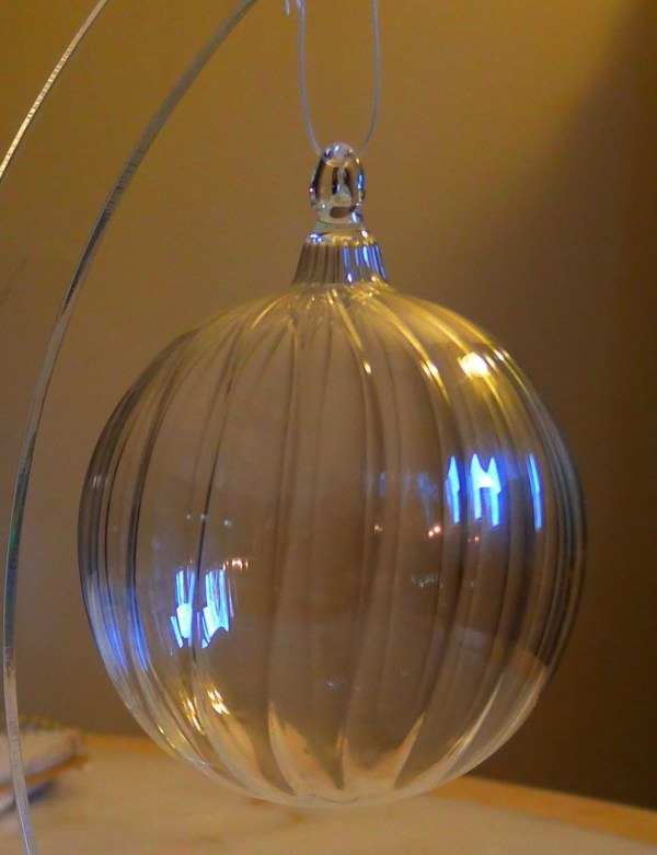 Hand Blown Clear Glass Ornaments
