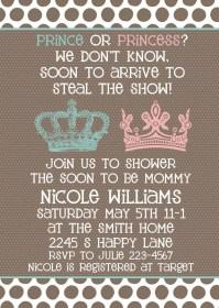 Baby Shower invitation Neutral Gender Unknown Shower