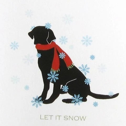 Let It Snow Black Lab Christmas Cards Set Of 8 Blank Holiday