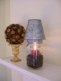 Candle Lamp Made From A Vintage Mason Jar by cattales on Etsy