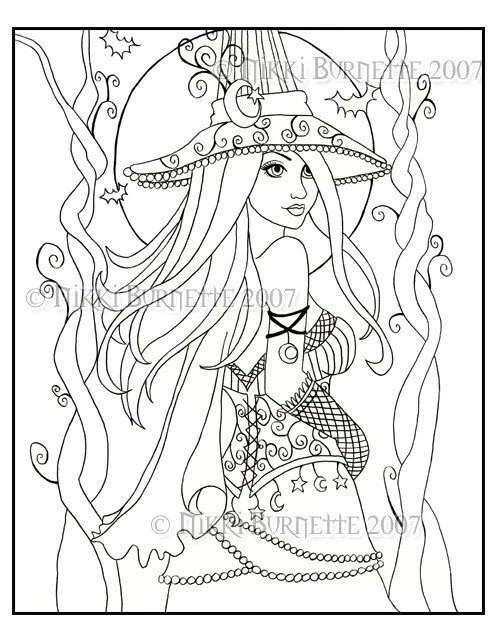 cassia coloring page kit  aceo print fantasyaurella27