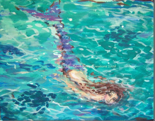 Abstract Mermaid Art Painting