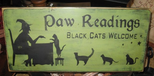 wiccan decor wood primitive witch sign etsy paw readings halloween wicca candle incense hanging cats cat wall plaque decor wican