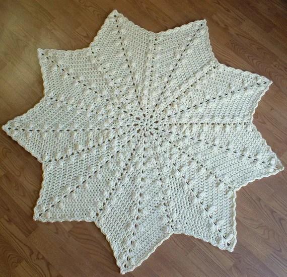 Popcorn Ripple Afghan Crochet Pattern