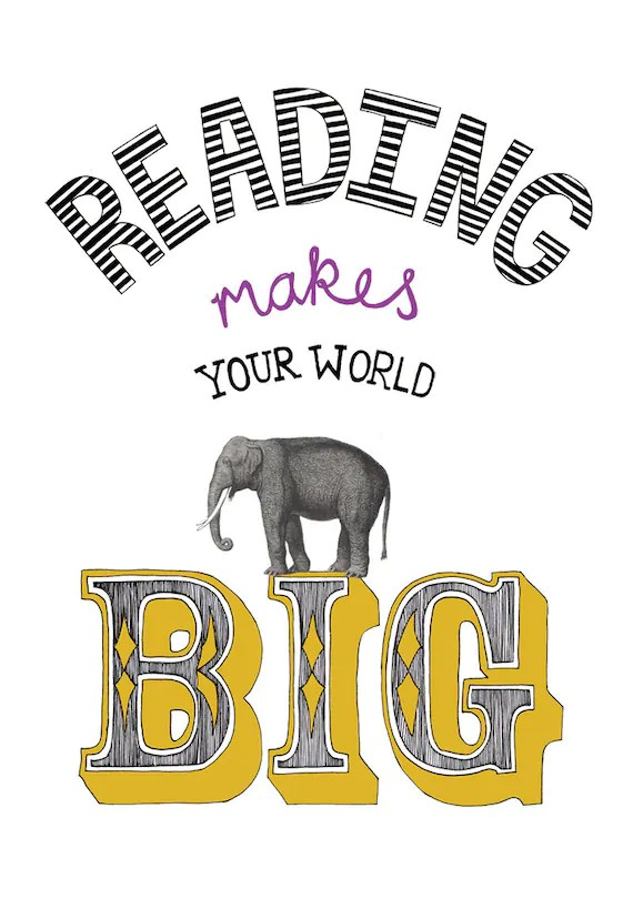 reading makes your world big - goldlion