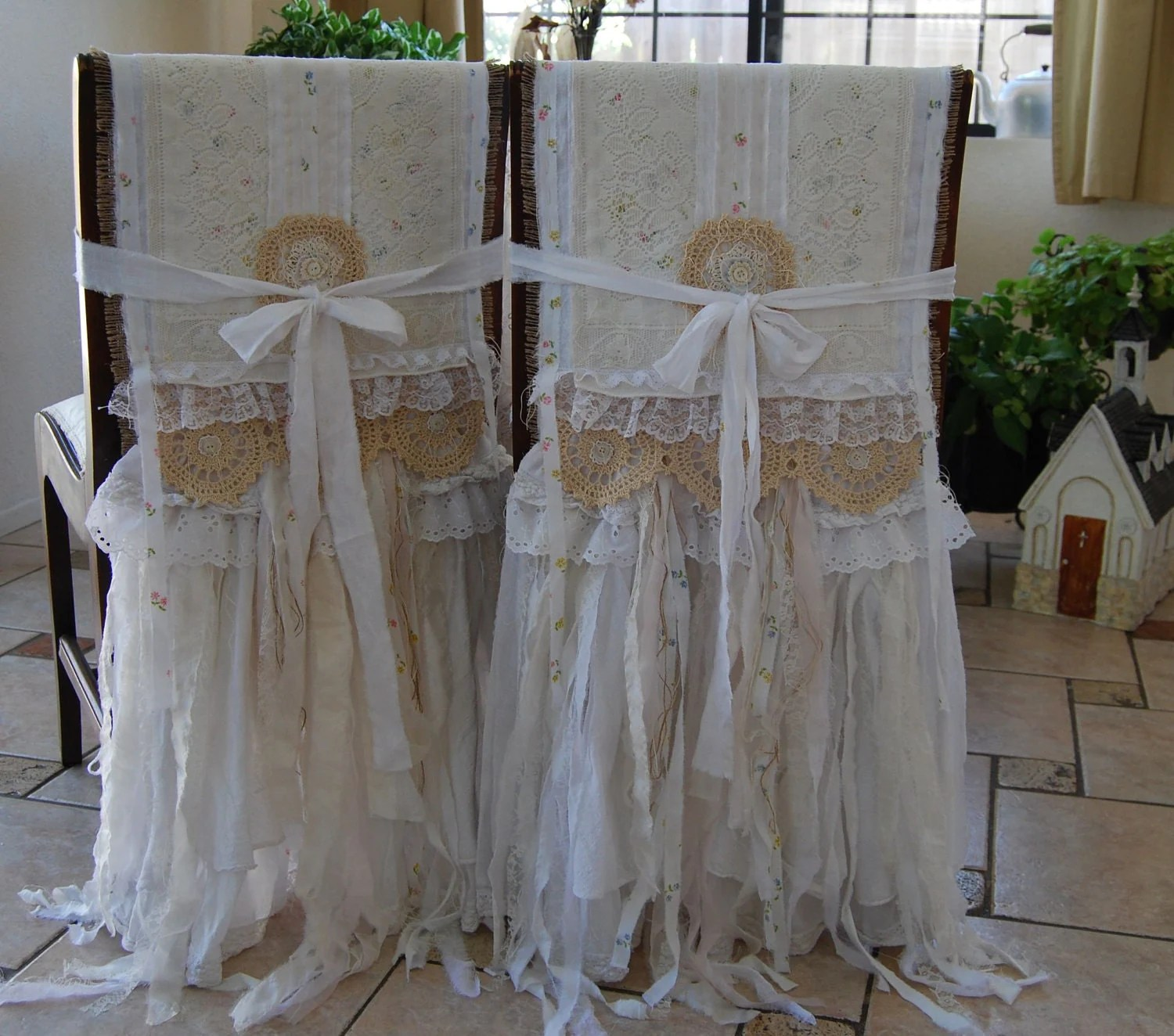 bride and groom chair covers ikea desk jules my whole heart vintage lace burlap farmhouse shabby chic