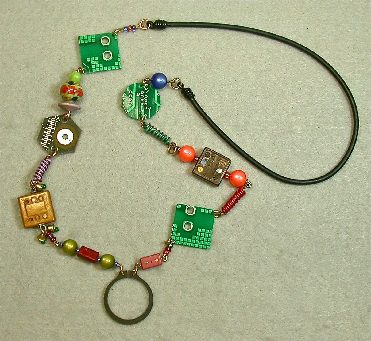 Items Similar To Heartshaped Circuit Board Necklace On Etsy