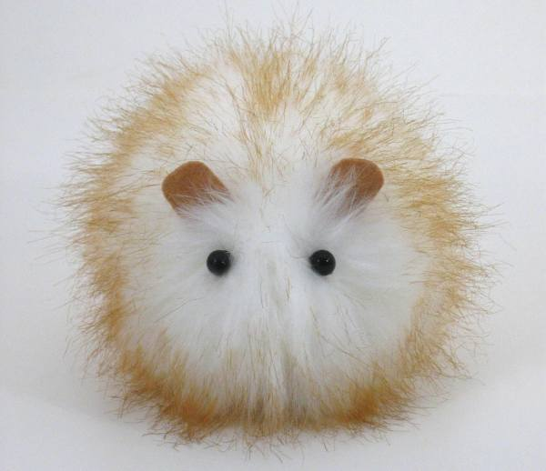Snowball Faux Fur Guinea Pig Plushie Baby Size