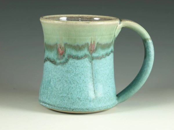 Large Coffee Mug Handle Turquoise Hodakapottery