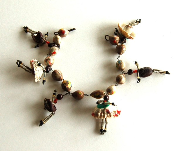 Vintage African American Folk Art Bracelet Brightandbeautiful88